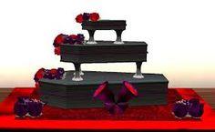 goth gothic coffin wedding cake