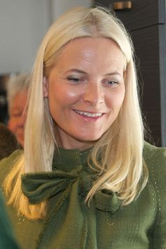 Princess Mette-Marit of Norway visits the Church City Mission in Oslo on 3 April 2013