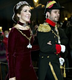 Danish Royal Family attended the New Years reception at Amalienborg Palace in Copenhagen