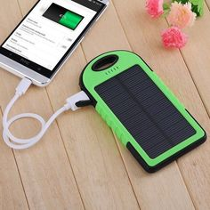 5000mAh Portable Waterproof Dual USB Solar Charger and Power Bank-Battery