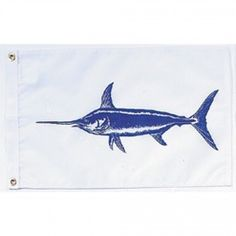 Nyl-Glo Swordfish Flag-12 in. X 18 in. http://www.pacificcoastflag.com/product-type/sports-recreation-leisure-boating-fishing-auto-racing/12-in-x-18-in-nyl-glo-swordfish-flag.html
