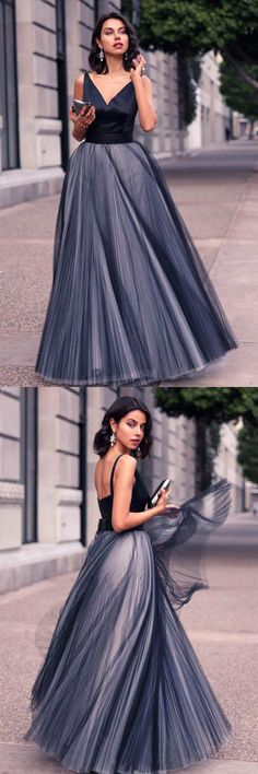 Princess Prom Dress,V-neck Prom Dresses,Tulle Evening Gown,Floor-length Prom Dresses,A Line Prom Gown,Beautiful Prom Dress #princess #tulle #aline #beautiful #gown #promdress