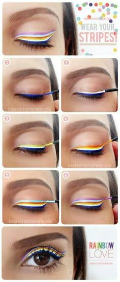 Any color combo would work. Try with liquid or soft pencil liners.