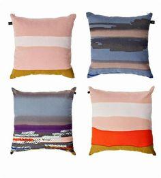 Fnubbu textiles pillows by Design Circus