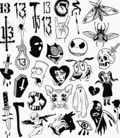 Marquesan tattoos cute tattoo flash, moth tattoo flash, kewpie t… – Yenirus Flash Art Tattoos, Tattoo Flash Sheet, Kritzelei Tattoo, Doodle Tattoo, Moth Tattoo, Spider Tattoo, Cupid Tattoo, Grunge Tattoo, Dark Tattoo