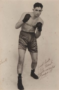 Inscription reads: Good luck. Vic Patrick. Light and Welter Champion of Australia. Victor (Vic) Patrick Lucca (1920-2006) was an Australian professional boxer and referee. Son of an oyster farmer, he took up boxing in 1940. | eBay!