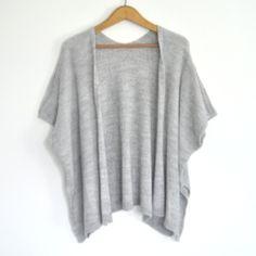 Chaqueta poncho gris