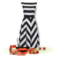 Chevron and Stripe outfit. Pear shaped body Outfit