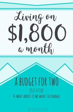 A simple budget for 2 living on $1800 a month and how they plan to make changes.