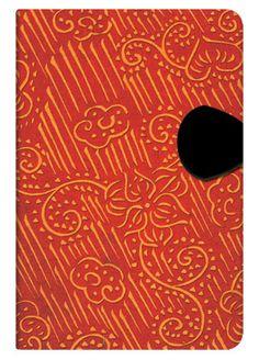 "Paperblanks' ""Beni"" journal; part of the Ukiyo-e Kimono Patterns collection"