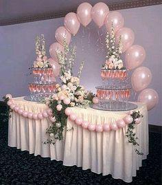 Ideas For Wedding Table Balloons Pink Table Decorations, Wedding Balloon Decorations, Wedding Balloons, Baby Shower Decorations, Quinceanera Decorations, Wedding Centerpieces, Party Ballons, Masquerade Decorations, Pink Balloons