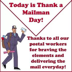Thank you , Mailman Day