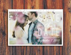 Modern Save the Date Wedding Invitation by ConteurCo on Etsy, $30.00