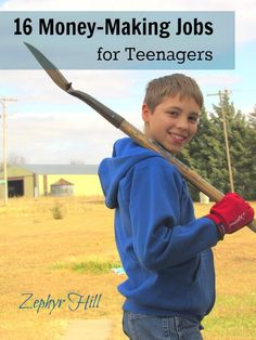 When teenagers express interest in working and earning money (yay!), they are usually advised to babysit, cut grass or walk dogs. There are SO many other ways to make money AND build valuable work skills.