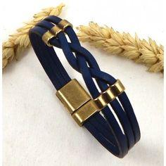 Un essentiel à avoir dans votre collection bracelets en cuir. Très facile à créer soi-même.