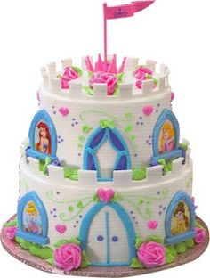Image Detail for - Small Disney Princess Castle Cake by DecoPac