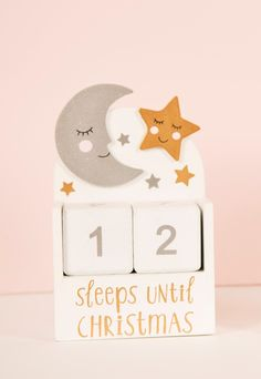 Sweet Dreams Christmas Countdown Block £10 - This Christmas we create a magical world of fairy tales and fantastical opulence with the Wonderland collection. Utterly enchanting, this range features an array of unique and iconic characters including flamingos and unicorns. Fit for princesses all over the land, the pastel pink colourway with touches of glitter and jewels creates a dreamy and feminine aesthetic.