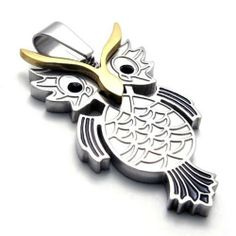 "20"" KONOV Jewelry Polished OWL Stainless Steel Pendant Necklace, Gold Black Silver, 20 inch Chain KONOV Jewelry. Save 75 Off!. $8.99. Color: Gold & Black & Silver; Material: Stainless Steel. Pendant arrives with one quality stainless steel chain.. Chain Length: 18"" 20"" 22"" 24"" or 26"" Width: 3mm. Pendant Height: 1.69""(4.3cm) Width: 0.83""(2.1cm)"