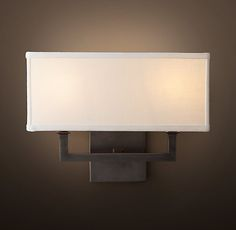 RH& Nolan Double Sconce:Nolan sconces offer a contemporary Art Deco aesthetic. Attic Apartment, Attic Rooms, Attic Spaces, Attic Bathroom, Attic Playroom, Open Spaces, Attic Renovation, Attic Remodel, Foyers