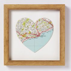 DIY idea: choose a location that's dear to the heart & frame it