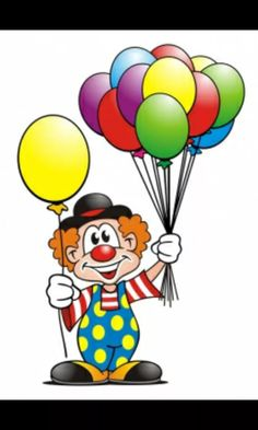 Clown Balloons - Buy this stock illustration and explore similar illustrations at Adobe Stock Carnival Themed Party, Circus Theme, Carnival Themes, Clown Crafts, Circus Crafts, Drawing For Kids, Art For Kids, Clown Balloons, Clown Images