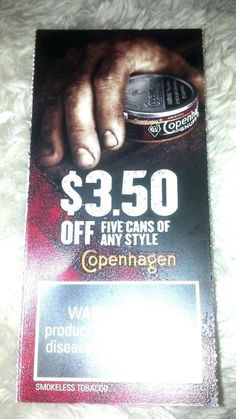 (2)SKoal Tobacco Buy one get one & $3.50 off 5 rolls Copenhagen