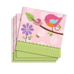 Baby in Pink, Partyservietten, 16er Pack, ca. 25cm, zur Geburt, Taufe, Baby Shower, Papierservietten