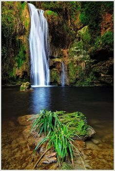 Kalamaris Waterfall, Greece www. The Places Youll Go, Places To See, Beautiful Places To Visit, Amazing Places, Fantasy Places, Archaeological Site, Mellow Yellow, Greece Travel, Greek Islands