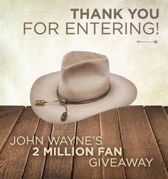 Enter to win a John Wayne Hat by Resistol! 29459a57f0f1
