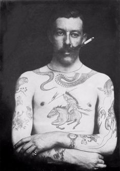 vintage everyday: Tatted Up in Victorian Times: Fascinating Photos Show the Work of One of Britian's First Tattoo Artists Sutherland Macdonald
