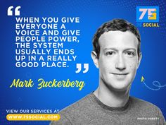 Hit the ❤️ button if you agree with Facebook founder and CEO Mark Zuckerberg. For all things digital, visit www.75social.com
