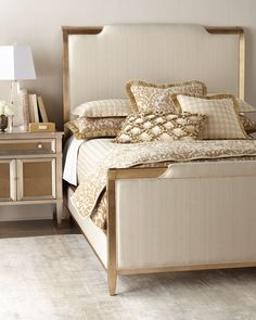 Shop Volanna Bedroom Furniture from caracole at Horchow, where you'll find new lower shipping on hundreds of home furnishings and gifts. Caracole Furniture, Luxury Bedroom Furniture, Luxury Bedroom Design, Bed Headboard Design, Headboards For Beds, Bed Design, Bedroom Sets, Home Bedroom, Bedroom Decor