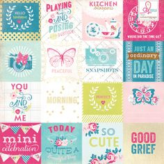 Sweet Routine collection from Webster's Pages. New for CHA-W 2014.