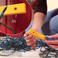 How to Repair Christmas Tree Lights: Squeeze another season out of your strings of lights! http://www.familyhandyman.com/electrical/home-lighting/how-to-repair-christmas-tree-lights/view-all