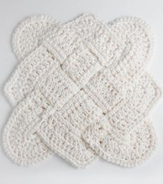 FREE Crochet Pattern | Sailor's Knot Crochet Dishcloth | Click through for FREE Pattern | Supplies available at Joann.com