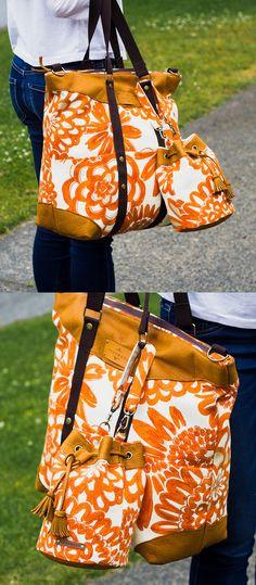 Weekend Bag & Bucket Bag PDF Pattern - ithinksew.com #ithinksew