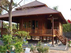 wooden thai style house - Thai Home Design