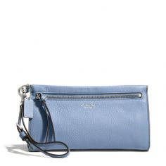 The Bleecker Large Wristlet In Pebbled Leather from Coach