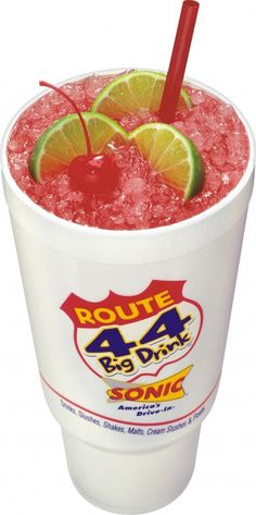 Rt. 44 Sonic drink strawberry diet limeade my very fav!