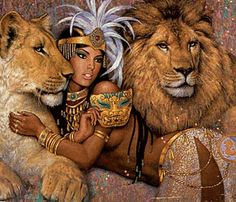 lion, art, and Queen image
