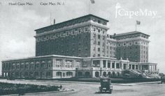 The Christian Admiral Hotel (formerly The Hotel Cape May), built 1908. Demolished 1996.