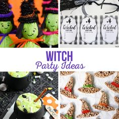Witch Party Ideas - The Crafting Chicks Witch Party, Wicked Good, 4th Birthday, Best Part Of Me, Halloween Crafts, Lily, Treats, Party Ideas, Crafting