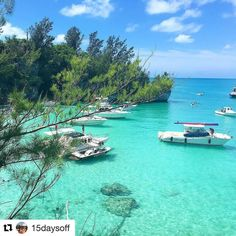 #Repost #featurefriday who wishes they were here this weekend? Gorgeous snap from @15daysoff  Our taxi driver tried to talk us out of going to Deep Bay Beach in Bermuda. He said it was dark there were too many stairs and nobody wanted to go there. I'm still not sure if he just didn't like it or he wanted to keep it a secret? But it was one of the most beautiful places I've ever been! We were able to throw our stuff on a little stretch of beach and float in this beautiful water all day with…