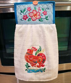 PDF:  Free project instructions to embroider a no-slip dish towel.