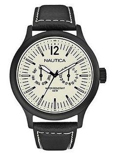 Nautica / NCT 150 Black Leather Men's watch