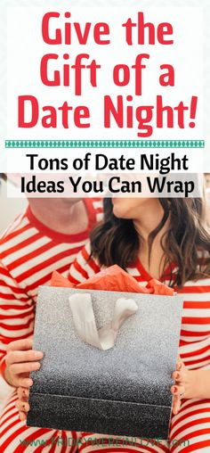 Date Night Gift Ideas - Friday We're in Love Give the gift of date night! Tons of date night gift ideas you can wrap and gift your significant other! Also a great couples gift idea!