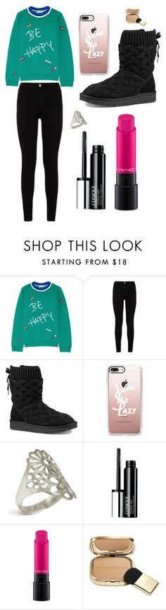 """Sans titre #2542"" by merveille67120 ❤ liked on Polyvore featuring Mira Mikati, 7 For All Mankind, UGG, Casetify, Clinique, MAC Cosmetics and Dolce&Gabbana"
