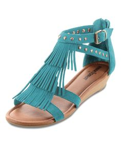 ee20e40a0f41 Love this Turquoise Monaco Suede Sandal - Women by Minnetonka on  zulily!   zulilyfinds