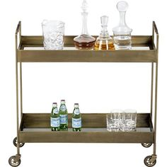 Libations Bar Cart in Accent Tables | Crate and Barrel. $599. For the bedroom side tables, perhaps?