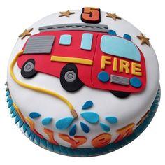 Firefighter Birthday Cakes, Truck Birthday Cakes, Truck Cakes, 3rd Birthday, Fireman Sam Cake, Fireman Party, Fire Engine Cake, Fire Fighter Cake, Fire Cake